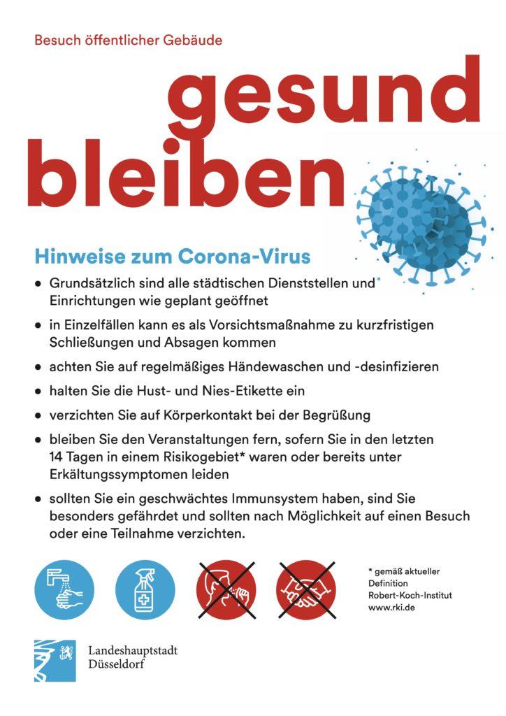 Hinweise zum Corona-Virus